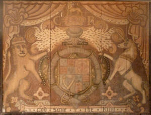 Coat of Arms before restoration, Alpheton Church
